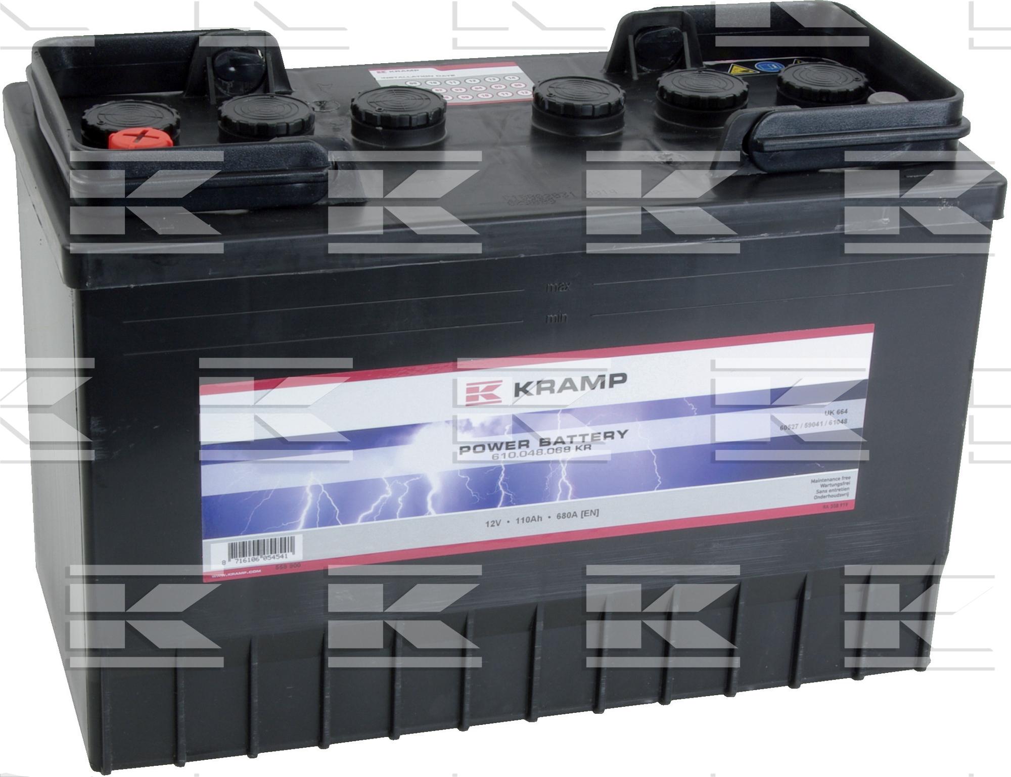 Battery 12V 110Ah 680A Kramp