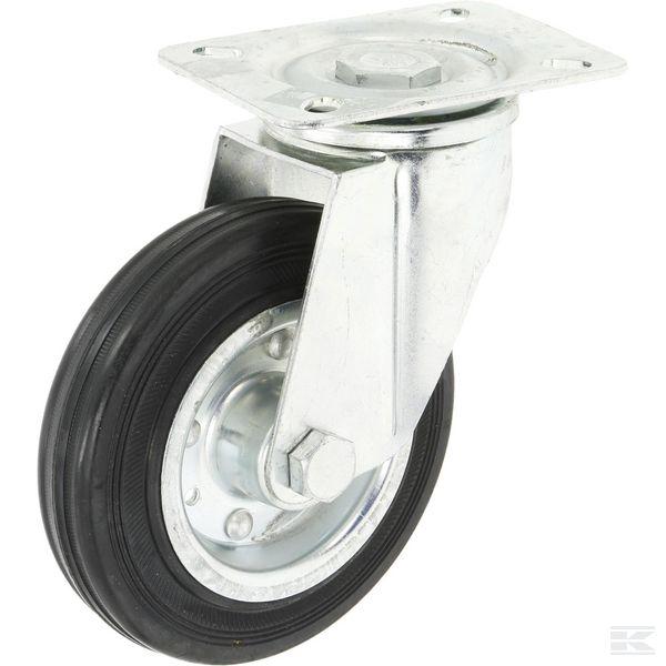 Swivel castor wheel+plate 140mm